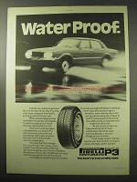 1977 Pirelli Cinturato P3 Tires Ad - Water Proof