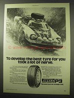 1977 Pirelli Cinturato P3 Tires Ad - Took Lot of Nerve