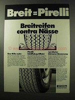 1977 Pirelli Tires Ad - in German