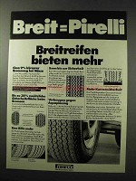 1977 Pirelli Tires Ad - in German - Breit=Pirelli