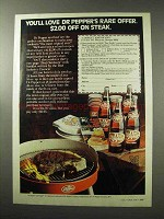 1977 Dr Pepper Soda Ad - You'll Love Rare Offer