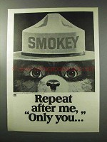 1977 Smokey the Bear Ad - Repeat After Me, Only You
