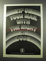1977 U.S. Postal Service Ad - Zip Up Your Mail