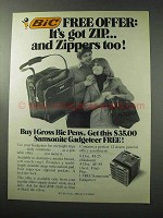 1977 Bic Pens Ad - It's Got Zip and Zippers