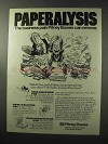 1977 Pitney Bowes Ad - Paperalysis Business Pain