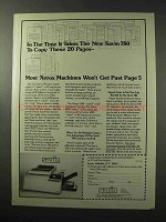 1977 Savin 780 Copier Ad - In The Time It Takes