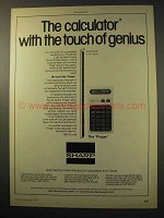 1977 Sharp Pinger EL8130 Calculator Ad - Genius