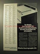 1977 Minolta Electrographic 201 Copier Ad - Surprising
