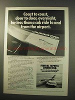 1977 Federal Express Courier Pak Ad - Coast to Coast