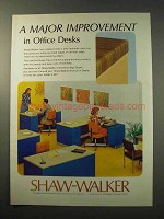 1977 Shaw-Walker Electronic-Age Desks Ad - Improvement