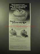 1977 Fostoria Lead Crystal Dish Ad - You'd Expect