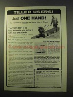 1977 Troy-Bilt Roto Tiller Ad - Just One Hand