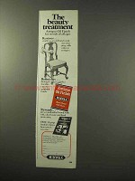 1977 Minwax Antique Oil Finish Ad - Beauty Treatment