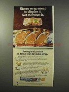1977 Reynolds Wrap Ad - Stores Wrap to Display