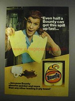 1977 Bounty Paper Towels Ad - Get This Spill Up Fast