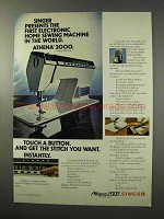1977 Singer Athena 2000 Sewing Machine Ad