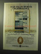 1977 G.E. 50th Anniversary Model Refrigerator Ad