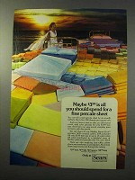 1977 Sears Percale Sheet Ad - All You Should Spend