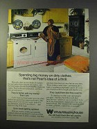 1977 White-Westinghouse Washer Dryer Ad - Pearl Bailey