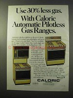 1977 Caloric Model RSP 369 and RSP 399 Gas Ranges Ad