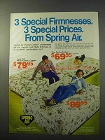 1977 Spring Air Mattresses Ad - 3 Special Firmnesses