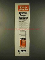 1977 Aftate for Athlete's Foot Ad - Better than Desenex