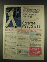 1977 Carefree Panty Shields Ad - Light Protection
