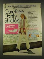 1977 Carefree Panty Shields Ad - Wear it Anytime