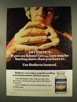 1977 Bufferin Medicine Ad - Arthritics