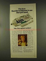 1977 Aim Toothpaste Ad - The Best Gets Ised