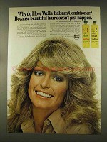 1977 Wella Balsam Conditioner Ad, Farrah Fawcett-Majors