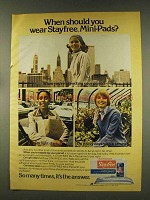 1977 Stayfree Mini Pads Ad - When Should You Wear?