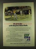 1977 Stayfree Maxi-Pads Ad - My First Day