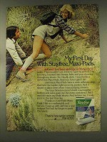 1977 Stayfree Maxi-Pads Ad - First Day With