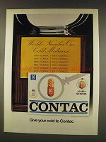 1977 Contac Medicine Ad - Give Your Cold To