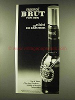 1977 Faberge Brut for Men Cologne Ad - in German