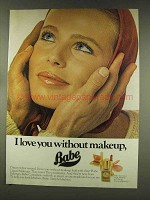 1977 Faberge Babe Liquid Makeups Ad - I Love You