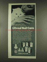 1977 L'oreal Nail Care Ad - Nails Don't Have Nine Lives