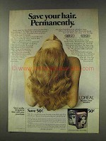 1977 L'Oreal The Hair Fixer Ad - Save Your Hair