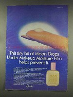 1977 Revlon Moon Drops Under Makeup Moisture Film Ad