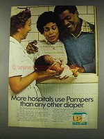 1977 Pampers Diapers Ad - More Hospitals Use