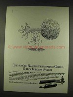 1977 Schick II Injector Razor Ad - in German - Eine schone Rasur