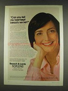 1977 Bausch & Lomb Soflens Contacts Ad - Kerry McGrath