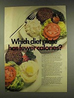 1977 The Potato Board Ad - Fewer Calories