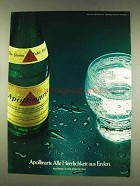 1977 Apollinaris Water Ad - in German