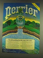 1977 Perrier Water Ad - Naturally Sparkling