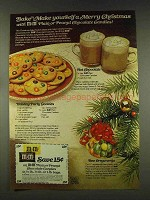 1977 M&M's Candy Ad - Bake Yourself a Merry Christmas