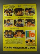 1977 Quaker Life Cereal Ad - Kids Like Mikey Like