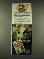 1977 Hidden Valley Ranch Creamy Italian Dressing Ad
