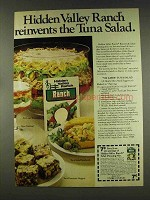 1977 Hidden Valley Ranch Dressing Ad - Tuna Salad